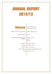 Release Annual Report 2012-13