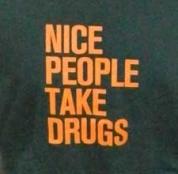 Nice People Take Drugs - Unisex Charcoal T-Shirt